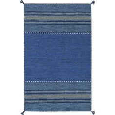This rug makes a bold statement seem effortless. Vibrant colors, a blend of patterns and cute tassels make this a look to swoon over!