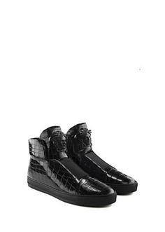 sale retailer c751b 4a1ec Versace Croc Effect High-Top Sneakers for Men   Official Website