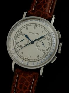 Stainless steel vintage Longines chronograph cal. 13ZN