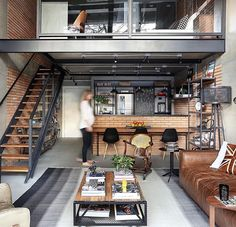 House interior rustic loft couch Ideas for 2019 Loft Interior, Apartment Interior, Home Interior Design, Interior Architecture, Apartment Design, Apartment Living, Men Apartment, Apartment Layout, Interior Modern