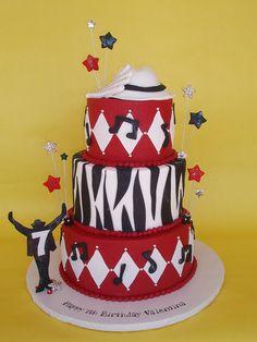 Michael Jackson Inspired Birthday Cake  by CakesUniqueByAmy.com, via Flickr