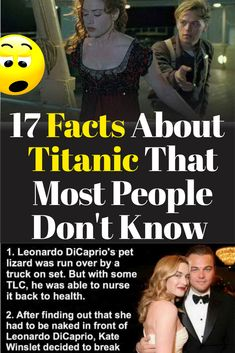 17 Facts about Titanic movie you may not know Titanic Funny, Titanic Film, Titanic Movie Facts, Titanic Quotes, Funny Images, Funny Photos, Leonardo Dicaprio Movies, Easy Pictures To Draw, Shocking Facts