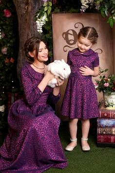"""""""Mommy holds the Easter Bunny, which is our household pet. Mother Daughter Matching Outfits, Mother Daughter Fashion, Mommy And Me Outfits, Family Outfits, Cute Outfits For Kids, Modest Outfits, Classy Outfits, Baby Girl Party Dresses, Little Girl Dresses"""