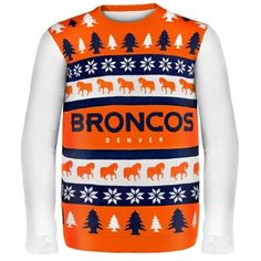 Denver Broncos Wordmark Ugly Sweater