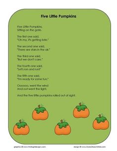 i can remember this adorable halloween song from when i was a kid five - Halloween Song For Preschool