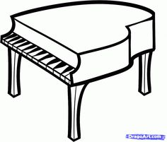 How to Draw a Piano For Kids, Step by Step, Percussion, Musical Instruments, FREE Online Drawing Tutorial, Added by Dawn, November 26, 2012, 3:10:16 pm