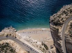 Aerial photo of #Kaputas Beach in 80 km from #Fethiye, #Oludeniz and #Hisaronu
