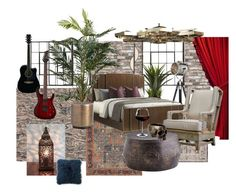 """Gosling"" by madamoformitel on Polyvore featuring interior, interiors, interior design, home, home decor, interior decorating, Karastan, Magnolia Home, Kelly Wearstler and Pier 1 Imports"