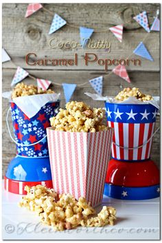 Coco Nutty Caramel Popcorn Recipe and Printable Popcorn Boxes