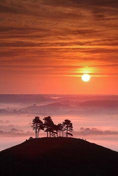 Definitivamente, la naturaleza nos entrega su magia a cada instante, con cada suspiro, con cada parpadeo, todo cambia, nada permanece.  Pink Dawn: Colmers Hill, Dorset, England