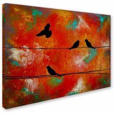 Trademark Fine Art Birds of Flight Canvas Art by Nicole Dietz, Size: 18 x 24, Multicolor
