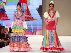 Diseño: El Ajolí. Pasarela Doñana Flamenca 2018. Foto: Claudia Alfaro entreciriosyvolantes.com Business Casual Men, Men Casual, Rock, Fishtail, Indian Fashion, Feminine, Crochet, Skirts, Cotton