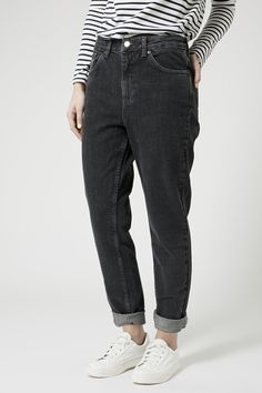 MOTO Washed Black Mom Jeans - Jeans - Clothing - Topshop