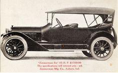 1915 Zimmerman Six 55 HP Touring Car
