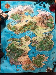 Continent of Othos. Fantasy Map for any Family Campaign. - mapmaking Fantasy Map Making, Fantasy City Map, Fantasy World Map, Fantasy Places, Dnd World Map, Rpg World, World Maps, Fantasy Art Landscapes, Fantasy Landscape