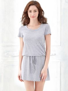 Women Summer Short Sleeve Crew Neck Bamboo Fiber Nightdress Homewear with Waist Strap http://www.amazon.com/Embroidery-Flower-V-Neck-Sleepwear-Nightgown/dp/B019WAGJW6/ref=sr_1_8?srs=8104465011&ie=UTF8&qid=1464748116&sr=8-8&keywords=women+sexy+nightgown