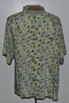 Mens Island Fever Shirt XXXLB Hawaiian Multi-Color Geometric Rayon Short Sleeve #IslandFever #Hawaiian free shipping auction starting at$10.99