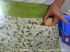The Homestead Survival | Sew a Chicken Egg Gathering Apron from a Pillowcase | http://thehomesteadsurvival.com