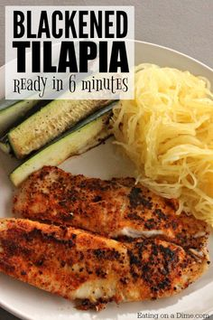 The Best Blackened Tilapia Recipe – Eating on a Dime Looking for easy fish recipes? Try this quick and easy blackened tilapia recipe. It is amazing! In just 6 minutes dinner is done! Frozen Fish Recipes, Easy Fish Recipes, Easy Meals, Healthy Recipes, White Fish Recipes, Fruit Recipes, Baked Tilapia Recipes, Baked Fish, Salmon Recipes