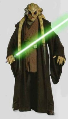 Kit Fisto - A renowned male Nautolan Jedi Master in the waning years of the Galactic Republic. In 41 BBY he took Bant Eerin as his Padawan. He later trained Nahdar Vebb as his Padawan to knighthood as well. During the Clone Wars, he served as a Jedi General in the Grand Army of the Republic, as well as a member of the Jedi High Council.