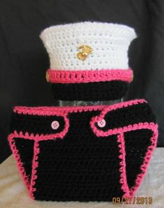 Marine Corps Hat Diaper Cover Military Baby Girl Pink Photo Prop 3 6 Months | eBay