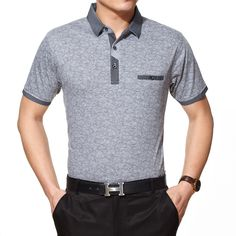 Brand Name: heavengifsSleeve Length(cm): ShortMaterial: CottonStyle: FormalPattern Type: StripedType: LooseColor Style: SolidFeature: BreathableDecoration: PocketsSale by Pack: NoGender: MenTops Type: PolosTops Type: PolosGender: MenNO: 0639 Mens Polo T Shirts, Slim Fit Polo Shirts, Casual T Shirts, Mens Golf Fashion, Mens Fashion Wear, Men's Fashion, New T Shirt Design, Shirt Designs, Style Casual