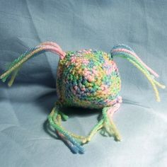 Cat Toy with Organic Catnip Pastel by McCrenshawKnits on Etsy, $3.00