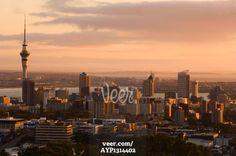Skyline, Auckland, North Island, New Zealand Stock Photo