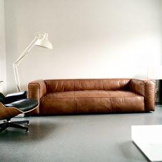 Love this vintage design leather sofa #cognac #sofa