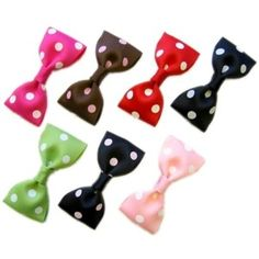 Instruction--How to make ribbon & fabric Bow-Tie Hairbow Cli ...