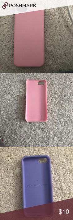 This phone case is for an iPhone 5C it works great Pink and purple iPhone 5C case still in great shape! I loved it Accessories Phone Cases
