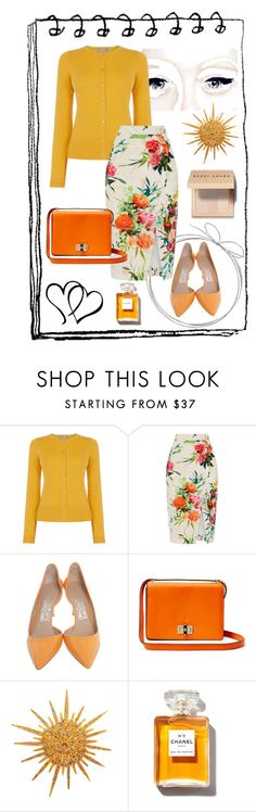 """Oasis"" by lorilee3131 ❤ liked on Polyvore featuring Oasis, Salvatore Ferragamo, Diane Von Furstenberg, Chanel and Bobbi Brown Cosmetics"