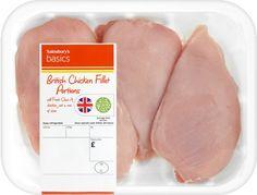 Sainsbury's Basics British Chicken Fillet (Approx 610g)