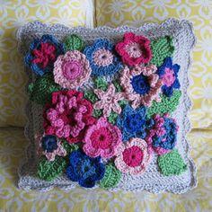 garden pillow by dorsia, via Flickr