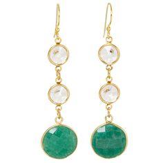 Crystal Monroe Earrings in Emerald