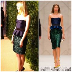 The Derek's Blog: Emma Stone en Burberry Prorsum - CFDA/Vogue Fashion Fund Awards 2012