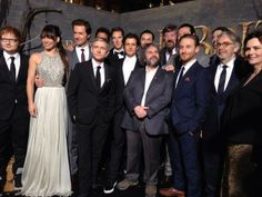 Peter Jackson and the incredible cast of #TheHobbit: The Desolation of Smaug. #HobbitPremiere
