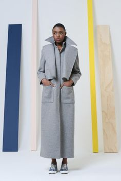long statement grey coat from rosie assoulin #style #fashion