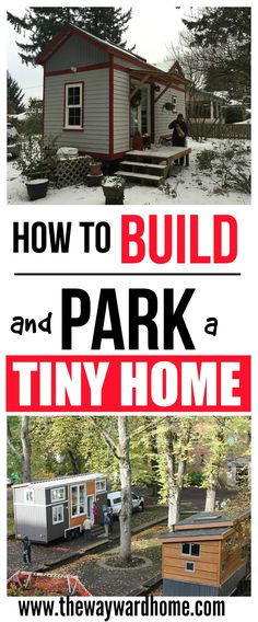 Wondering how to build and park a tiny home? Check out this resource on tiny house living. #tinyhouse #tiny #tinyhousemovement