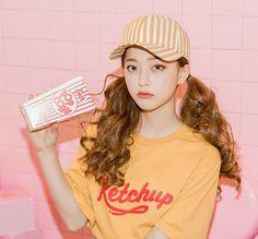 Crewneck Lettering T-Shirt, Mustard Yellow , One Size - icecream12 | YESSTYLE