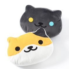 """Get cozy with one of these **Neko Atsume Big Kororin Cushions** from the **second volume** of these cute plushies based on the kitty cast of the ***Neko Atsume*** series! Featuring **Callie** and **Pepper,** each is approximately **15""""** and nice and comfy, perfect for sitting or laying on, and if you don't want to separate the two or simply want a matching set, they're also available as a **set!*... #homekitchen"""