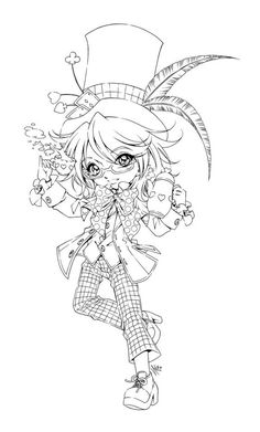 Unique Chibi Coloring Pages With Wallpaper Free Kawaii Coloring