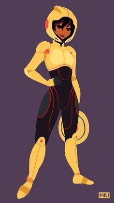 Gogo Tomago by RenRoyal Hiro Big Hero 6, The Big Hero, Zootopia, Disney And Dreamworks, Disney Pixar, Gogo Tomago, Arte Nerd, Female Characters, Disney Characters