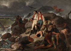 """""""Episodio de Trafalgar"""" (1862) de Francisco Sans Cabot…"""