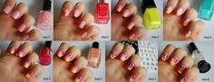 letter nail art tutorial