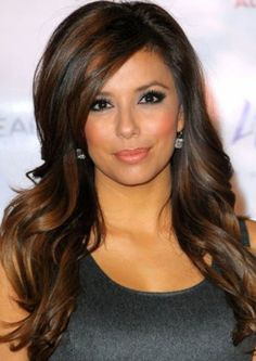 Eva Longoria Hairstyles: Long Curls with Highlights