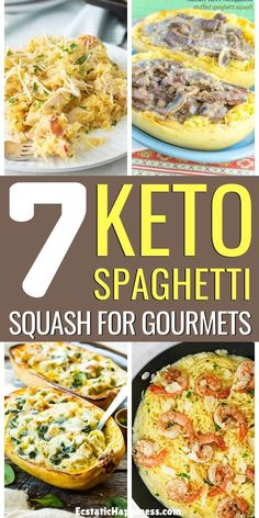 If you've been craving pasta lately, these delicious keto spaghetti squash recipes will be your salvation. Say goodbye to traditional pasta! Spaghetti Squash Carbonara, Spaghetti Squash Casserole, Chicken Spaghetti Squash, Chicken Carbonara, Spagetti Squash Pad Thai, Sauce For Spaghetti Squash, Microwave Spaghetti Squash, Vegetarian Spaghetti Squash Recipes, Spaghetti Squash Nutrition