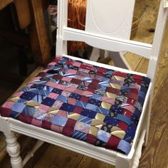 Woven tie seat chair. Fun!