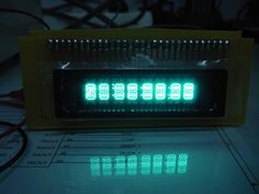 Fluorescent Display (VFD) :Elecrow bazaar, Make your making Electronic modules projects easy. Time Clock, 8 Bit, Vacuums, Display, Led, Digital, Board, Easy, Projects