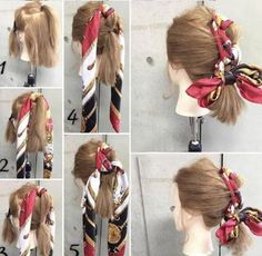 How to Make Adorable Hairstyles with Scarf Scarf Hairstyles, Cool Hairstyles, Korean Wedding, About Hair, Hair Looks, Hair Extensions, Wedding Hairstyles, Beauty Hacks, Hair Makeup